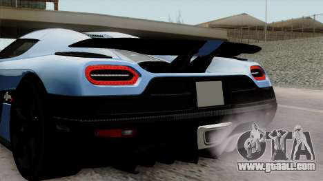Koenigsegg Agera R 2014 Carbon Wheels for GTA San Andreas back view