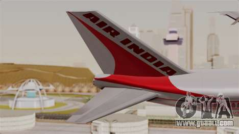 Boeing 747-200 Air India VT-ECG for GTA San Andreas back left view