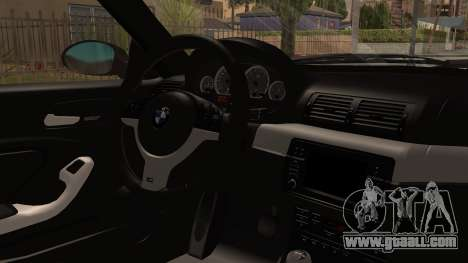 BMW M3 E46 2005 Stock for GTA San Andreas right view