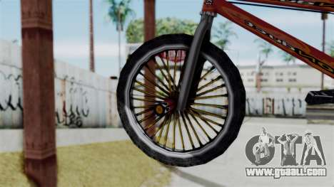 Bike from Bully for GTA San Andreas back left view