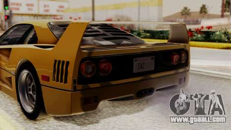 Ferrari F40 1987 HQLM for GTA San Andreas back view