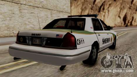 Ford Crown Victoria LP v2 Sheriff New for GTA San Andreas left view