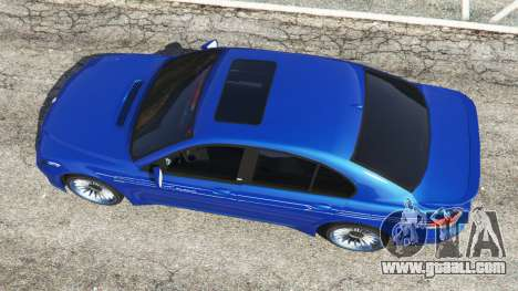 GTA 5 BMW B7 (E65) Alpina back view
