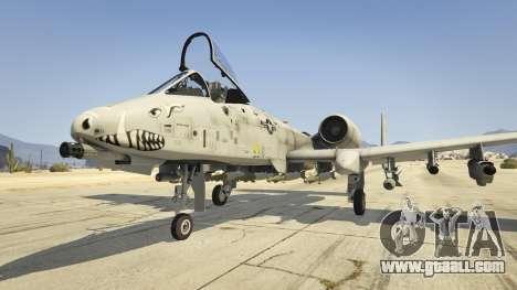 A-10A Thunderbolt II 1.1 for GTA 5