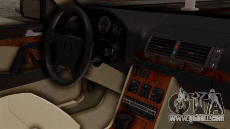 Mercedes-Benz W140 500SE 1992 for GTA San Andreas right view