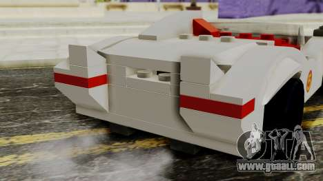 Lego Mach 5 for GTA San Andreas back view