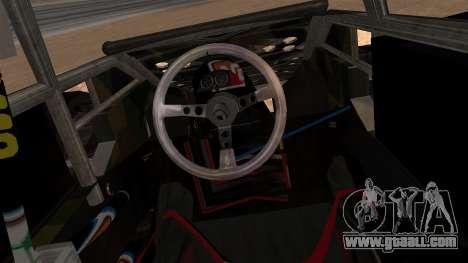 Camo Flip Car for GTA San Andreas back left view