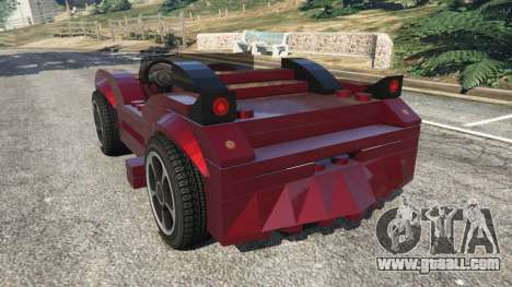 GTA 5 LEGO Car rear left side view