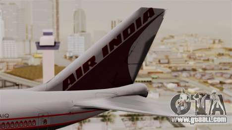 Boeing 747-400 Air India Old for GTA San Andreas back left view