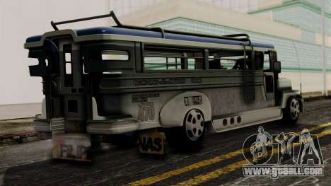 Milwaukee Motors Custom Jeepney for GTA San Andreas left view