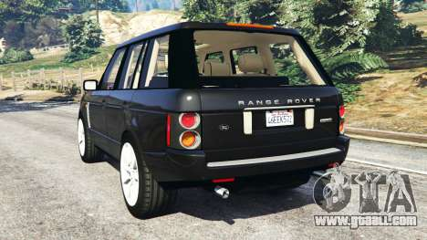 GTA 5 Range Rover Supercharged rear left side view