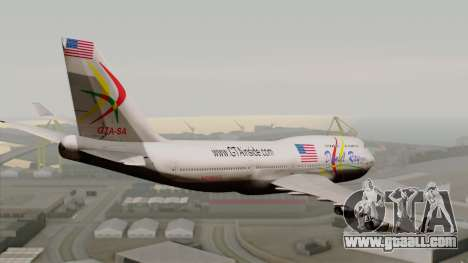 Boeing 747-400 Friendship Tag for GTA San Andreas left view