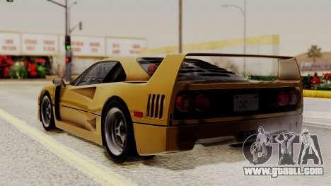 Ferrari F40 1987 HQLM for GTA San Andreas