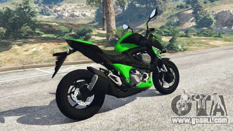 GTA 5 Kawasaki Z800 2014 left side view