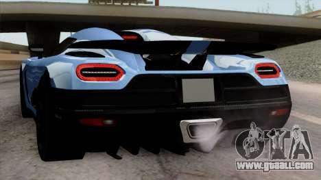 Koenigsegg Agera R 2014 Carbon Wheels for GTA San Andreas wheels
