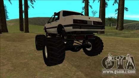 Willard Monster for GTA San Andreas back view