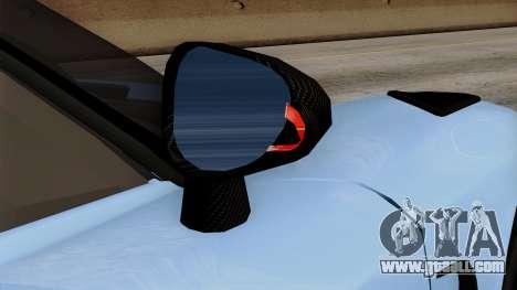 Koenigsegg Agera R 2014 Carbon Wheels for GTA San Andreas upper view