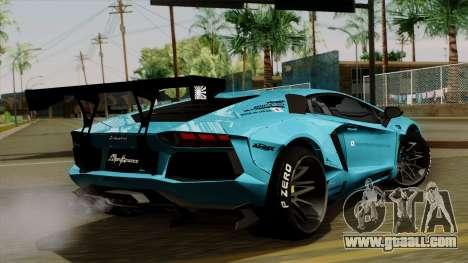 Lamborghini Aventador LB Performance for GTA San Andreas left view