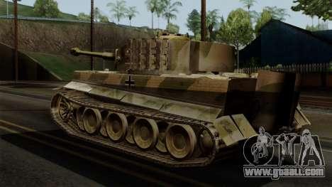 Panzerkampfwagen VI Ausf. E Tiger No Interior for GTA San Andreas left view