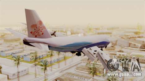 Boeing 747-200 China Airlines Dreamliner for GTA San Andreas left view