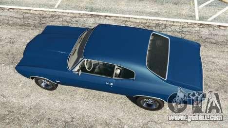 GTA 5 Chevrolet Chevelle SS 1970 v0.1 [Beta] back view