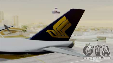 Boeing 747 Singapore Cargo for GTA San Andreas back left view