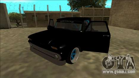 Chevrolet C10 Drift Monster Energy for GTA San Andreas back view