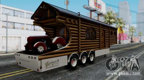 Scania Showtrailer Log Cabin for GTA San Andreas left view