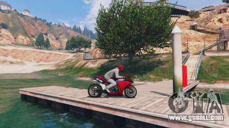 GTA 5 Yamaha YZF R1 (Custom) v1.0 left side view