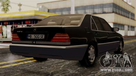 Mercedes-Benz W140 500SE 1992 for GTA San Andreas left view