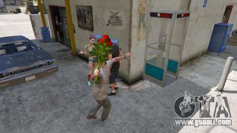 A bouquet of flowers for GTA 5