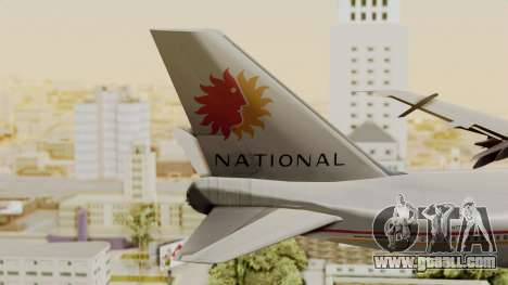 Boeing 747-100 National Airlines for GTA San Andreas back left view