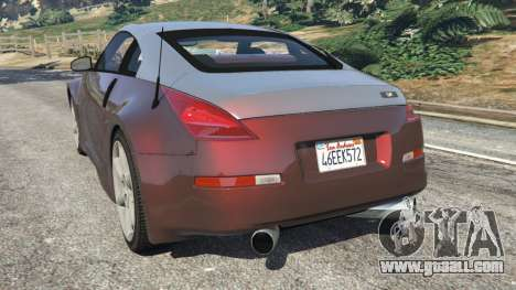 GTA 5 Nissan 350Z rear left side view