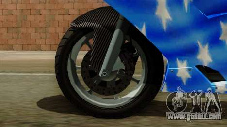 Bati America Motorcycle for GTA San Andreas back left view