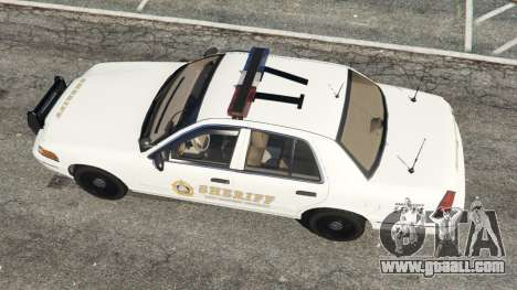 GTA 5 Ford Crown Victoria 1999 Sheriff v1.0 back view