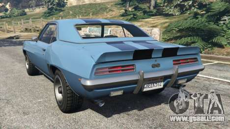 GTA 5 Chevrolet Camaro SS 350 1969 rear left side view