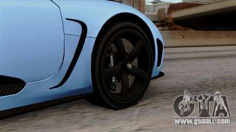 Koenigsegg Agera R 2014 Carbon Wheels for GTA San Andreas back left view