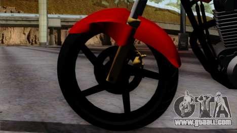 Honda Twister 2014 for GTA San Andreas back left view
