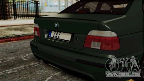 BMW 530D E39 1999 Mtech for GTA San Andreas back view