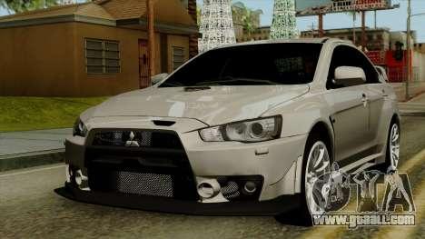 Mitsubishi Lancer Evolution X FQ400 Pro for GTA San Andreas