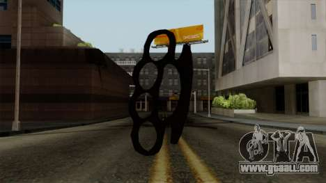 New brass knuckles for GTA San Andreas second screenshot
