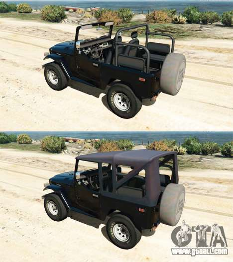 GTA 5 Toyota Land Cruiser (J40) 1978 [Beta 3b] front right side view