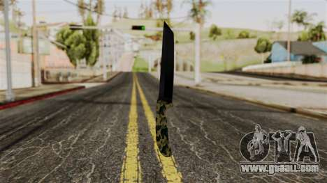 New camo knife for GTA San Andreas second screenshot