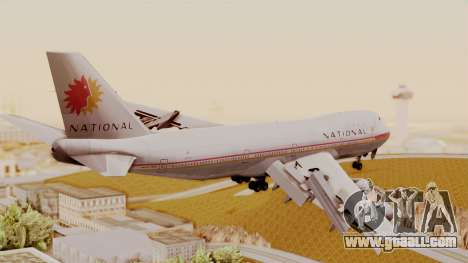 Boeing 747-100 National Airlines for GTA San Andreas left view
