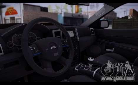 Jeep Grand Cherokee SRT8 2008 for GTA San Andreas back view