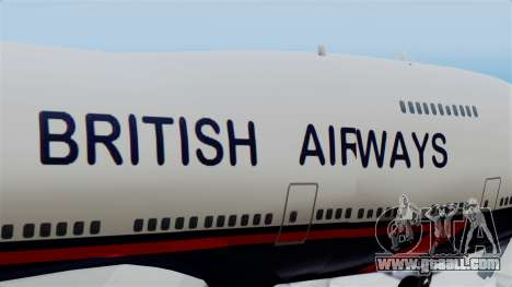 Boeing 747 British Airlines (Landor) for GTA San Andreas back view