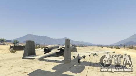 GTA 5 A-10A Thunderbolt II 1.1 sixth screenshot