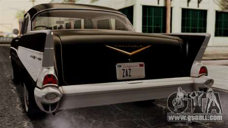 Chevrolet Bel Air Sport Coupe (2454) 1957 IVF for GTA San Andreas back view