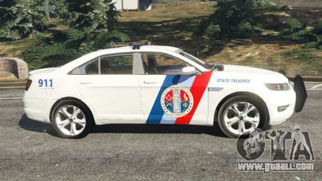 GTA 5 Ford Taurus State Troopers San Andreas left side view