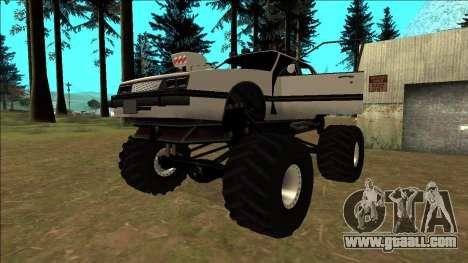 Willard Monster for GTA San Andreas bottom view